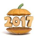 Halloween pumpkin 2017 3D