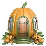Halloween pumpkin house 3D