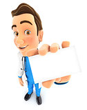 3d doctor holding company card