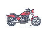 Cool biker motorcycle