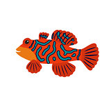 Cartoon mandarin fish