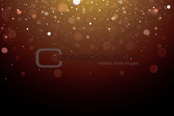 Abstract Bokeh Light on Dark Background.
