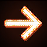 Night club billboard retro arrow light frames