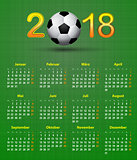 Deutsch calendar 2018 Soccer theme, linen back soccer ball calen