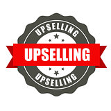 Upselling badge - round stamp for sale workshop
