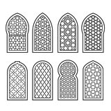 Arabian window with ornament - grating decorated with arabesque