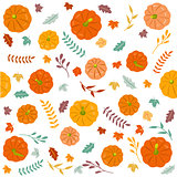 Thanksgiving autumn seamless background