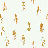 Seamless pattern with Christmas tree. Winter forest