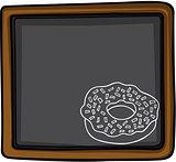 Donut chalk sketch on blackboard background