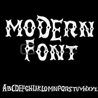 Antique alphabet. Gothic letters. Vintage hand drawn font. Western vector grunge lettering.