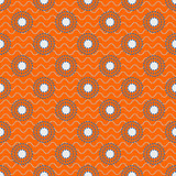 Japanese circles pattern in blue and orange colors.