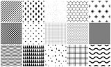 Seamless pattern vector set of geometric textures.