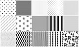 Seamless pattern vector black and white geometric textures.