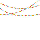 Party Background with Confetti Vector Illustration