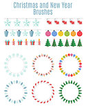 Christmas and New Year Party Flags, Buntings,  Brushes for Creat
