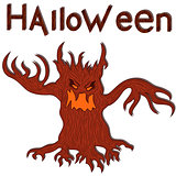 Halloween angry evil twisted tree