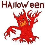 Halloween aggressive evil tree