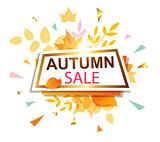 Banner for seasonal autumn sale