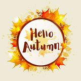 Round autumn banner