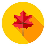 Maple Leaf Circle Icon
