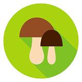 Mushrooms Circle Icon
