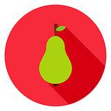 Pear Circle Icon