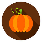 Pumpkin Circle Icon