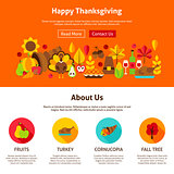 Web Design Happy Thanksgiving