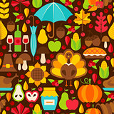 Thanksgiving Holiday Seamless Pattern