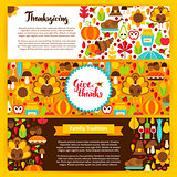 Thanksgiving Horizontal Banners