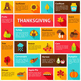 Thanksgiving Infographic Concept