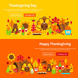 Thanksgiving Day Website Banners