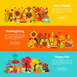 Thanksgiving Web Horizontal Banners