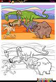 cartoon prehistoric characters coloring book
