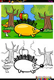 cartoon hedgehog character coloring book