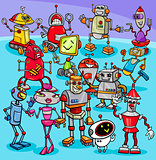 cartoon robot characters group