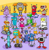 cartoon robot characters big group