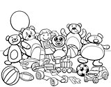 toys group cartoon coloring book