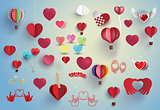 vector heart set.