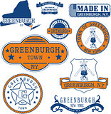 Set of generic stamps and signs of Greenburgh, NY