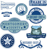 generic stamps and signs of Montgomery county, NY