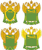 Set of generic Russian Customs emblem templates