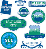 generic stamps and signs of Salt Lake City, UT