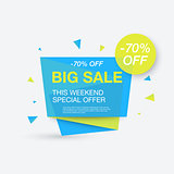 Weekend sale banner, special offer