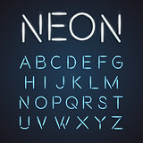 Neon font city text, Night Alphabet