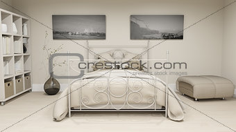 3D luxury bedroom interior