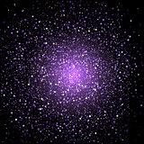 Purple star confetti background