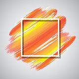 White frame on watercolour background