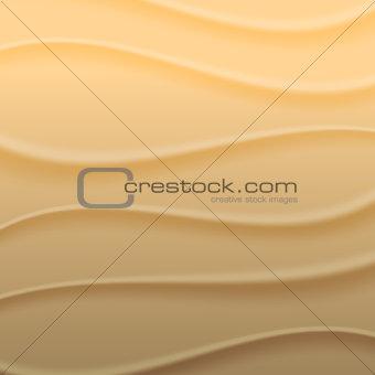 Background waves of sand, vector illustration.