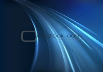 Blue Background And Glowing Rays